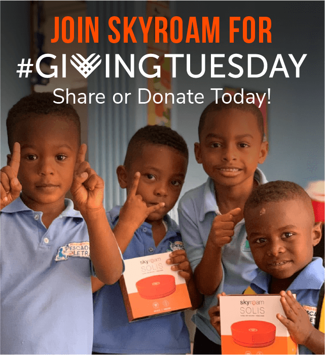 Giving Tuesday with Skyroam!